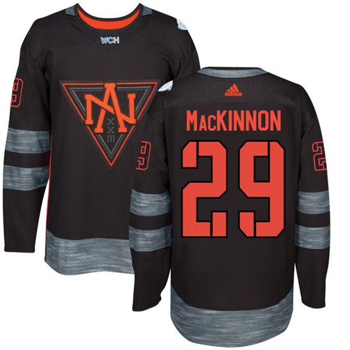 Team North America #29 Nathan MacKinnon Black 2016 World Cup Stitched NHL Jersey