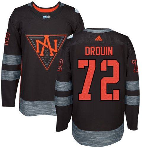 Team North America #72 Jonathan Drouin Black 2016 World Cup Stitched NHL Jersey