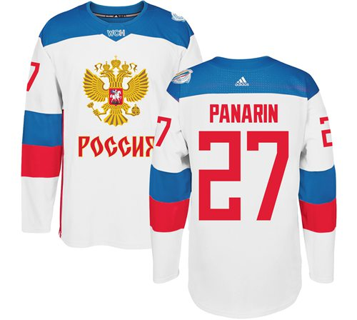 Team Russia #27 Artemi Panarin White 2016 World Cup Stitched NHL Jersey