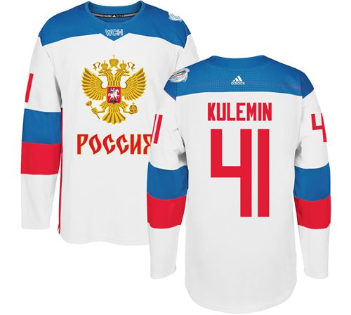 Team Russia #41 Nikolay Kulemin White 2016 World Cup Stitched NHL Jersey