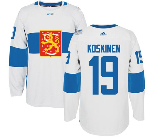 Team Finland #19 Mikko Koskinen White 2016 World Cup Stitched NHL Jersey