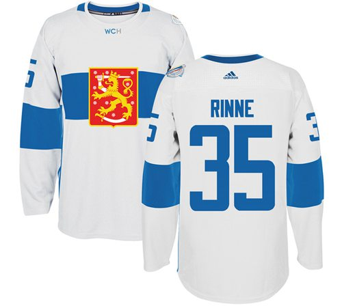 Team Finland #35 Pekka Rinne White 2016 World Cup Stitched NHL Jersey
