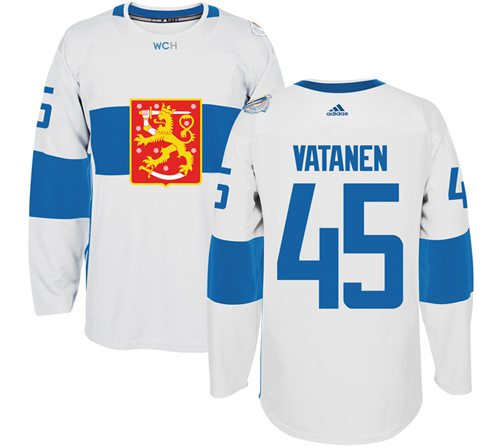 Team Finland #45 Sami Vatanen White 2016 World Cup Stitched NHL Jersey