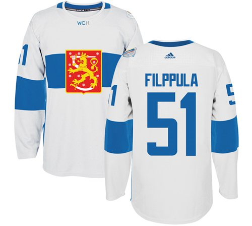 Team Finland #51 Valtteri Filppula White 2016 World Cup Stitched NHL Jersey