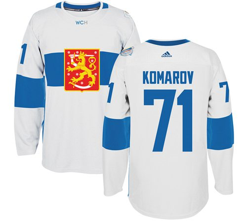 Team Finland #71 Leo Komarov White 2016 World Cup Stitched NHL Jersey