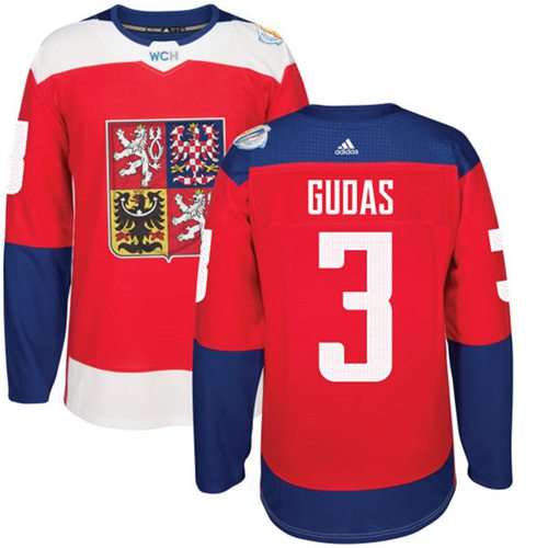 Team Czech Republic #3 Radko Gudas Red 2016 World Cup Stitched NHL Jersey