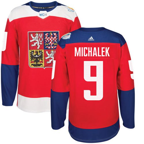 Team Czech Republic #9 Milan Michalek Red 2016 World Cup Stitched NHL Jersey
