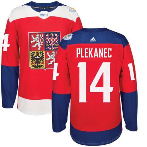 Team Czech Republic #14 Tomas Plekanec Red 2016 World Cup Stitched NHL Jersey