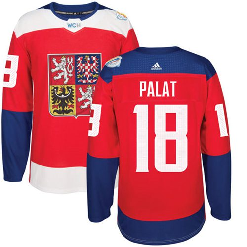 Team Czech Republic #18 Ondrej Palat Red 2016 World Cup Stitched NHL Jersey
