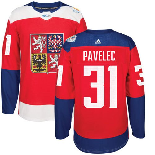 Team Czech Republic #31 Ondrej Pavelec Red 2016 World Cup Stitched NHL Jersey