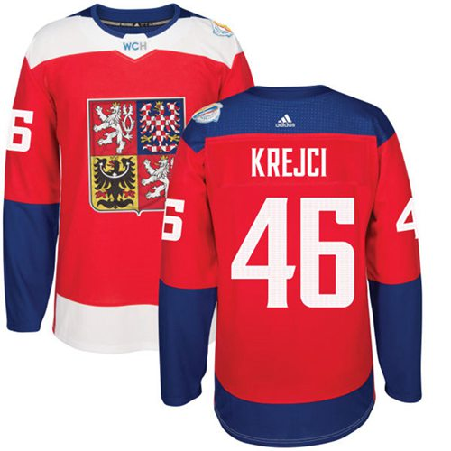 Team Czech Republic #46 David Krejci Red 2016 World Cup Stitched NHL Jersey