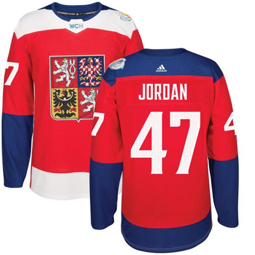 Team Czech Republic #47 Michal Jordan Red 2016 World Cup Stitched NHL Jersey