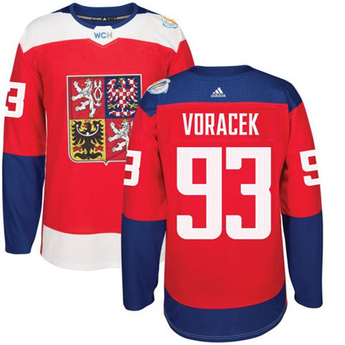 Team Czech Republic #93 Jakub Voracek Red 2016 World Cup Stitched NHL Jersey