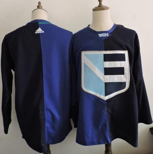 Team Europe Hockey Blank Blue 2016 World Cup Stitched NHL Jersey