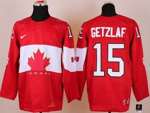 Olympic 2014 CA. #15 Ryan Getzlaf Red Stitched NHL Jersey