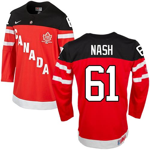 Olympic CA. #61 Rick Nash Red 100th Anniversary Stitched NHL Jersey