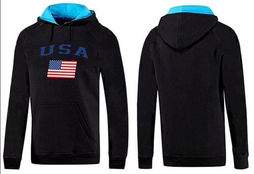 Olympic Team USA Pullover Hoodie Black & Blue
