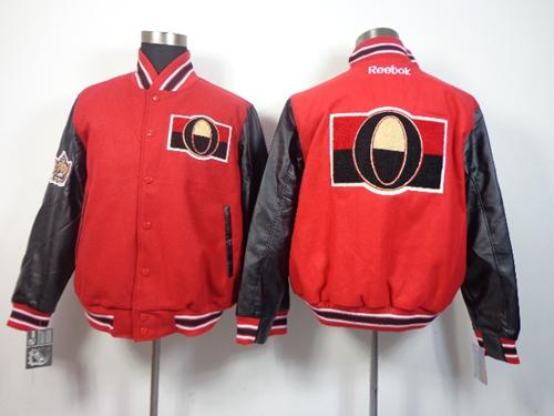 Ottawa Senators Blank Satin Button-Up Red NHL Jacket