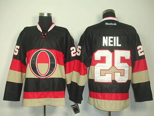 Senators #25 Chris Neil Black Third Stitched NHL Jersey