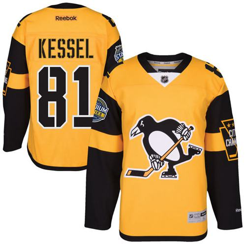 Penguins #81 Phil Kessel Gold 2017 Stadium Series Stitched NHL Jersey