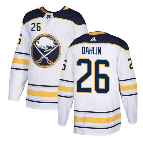 Men's Adidas Buffalo Sabres #26 Rasmus Dahlin White Stitched NHL Jersey