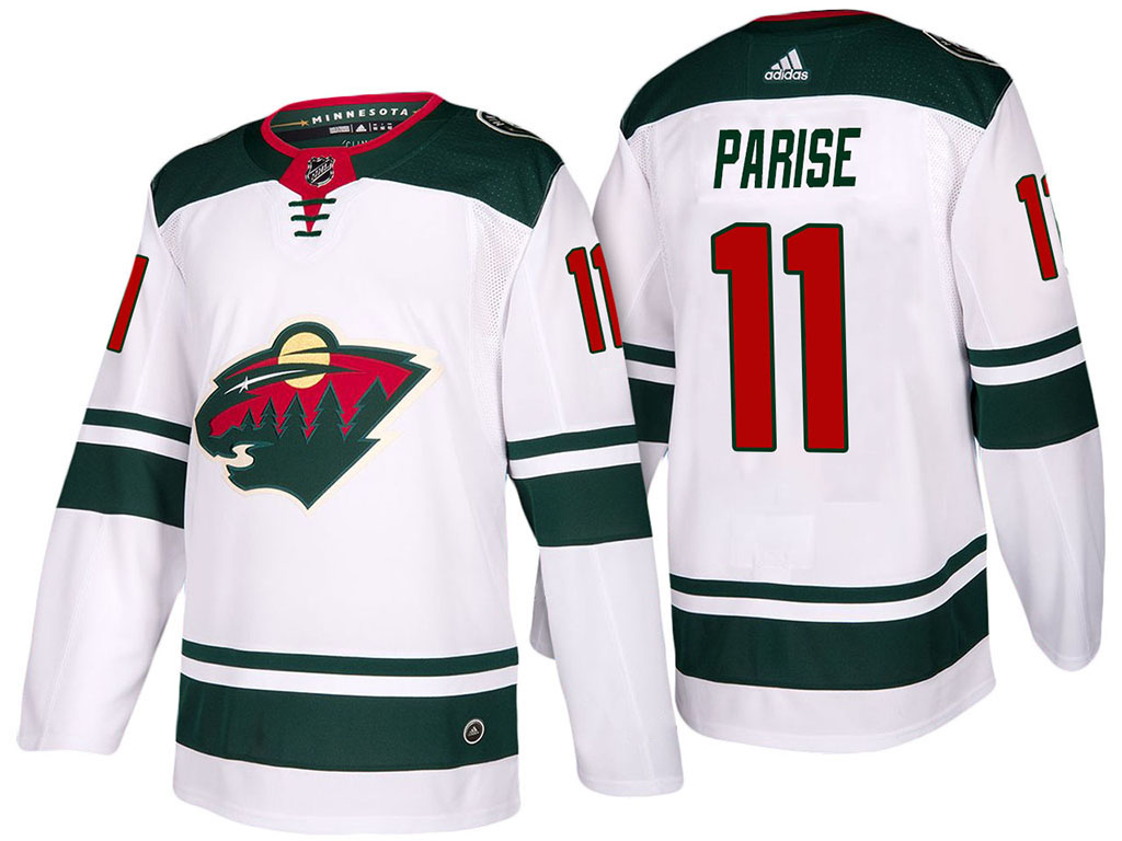 Men's Adidas Minnesota Wild #11 Zach Parise White Stitched NHL Jersey