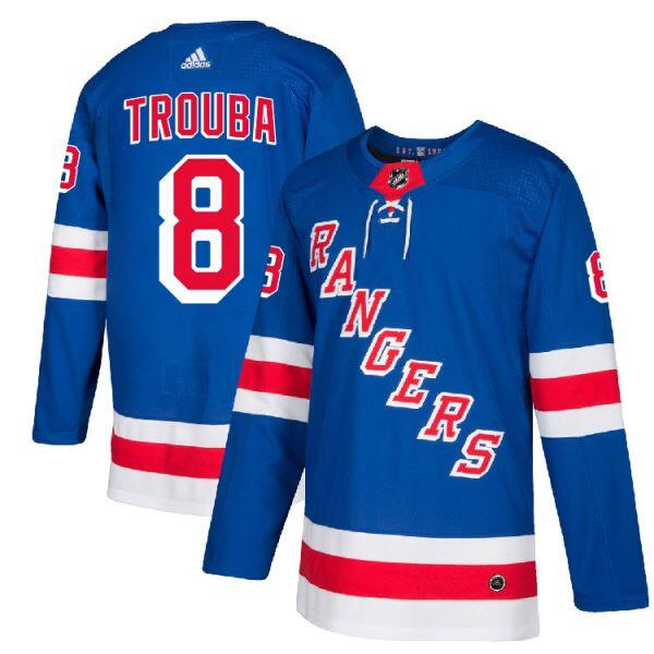 Men's New York Rangers #8 Jacob Trouba Blue Stitched NHL Jersey