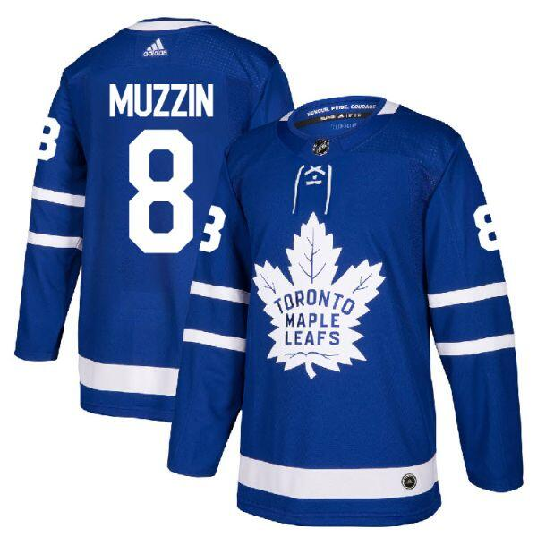 Men's Toronto Maple Leafs #8 Jake Muzzin Blue Stitched NHL Jersey