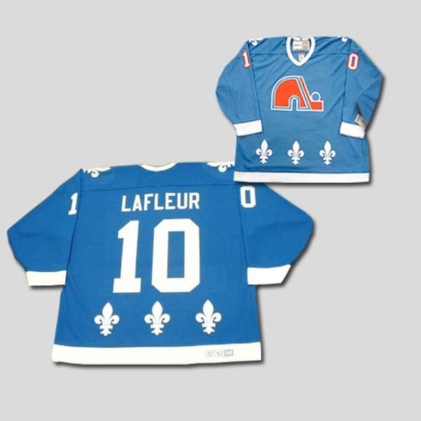 Nordiques #10 Guy Lafleur Stitched CCM Throwback blue NHL Jersey