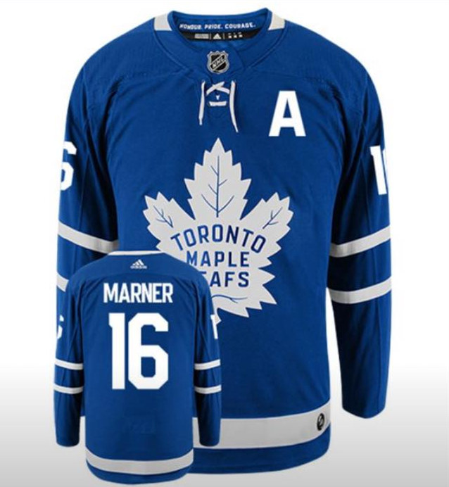 Men's Toronto Maple Leafs #16 Mitchell Marner Blue With A Patch Adidas Stitched NHL Jersey