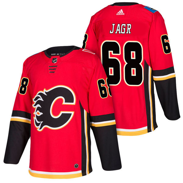 Men's Calgary Flames #68 Jaromir Jagr Stitched NHL Jersey