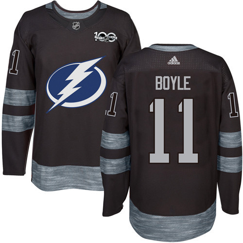 Lightning #11 Brian Boyle Black 1917-2017 100th Anniversary Stitched NHL Jersey