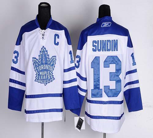 Maple Leafs #13 Mats Sundin White Third Stitched NHL Jersey