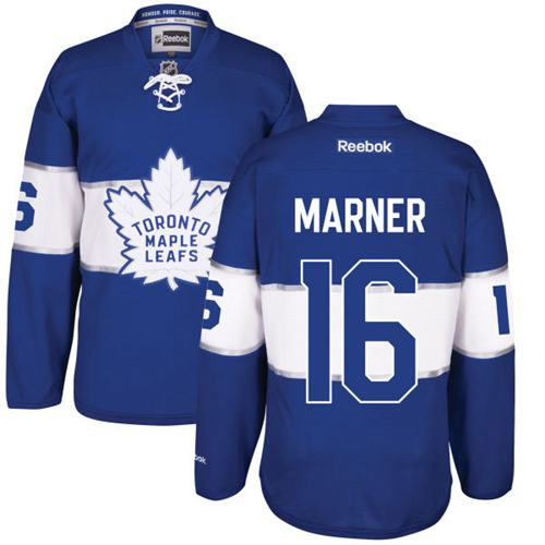 Maple Leafs #16 Mitchell Marner Royal Centennial Classic Stitched NHL Jersey