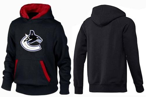 Vancouver Canucks Pullover Hoodie Black & Red