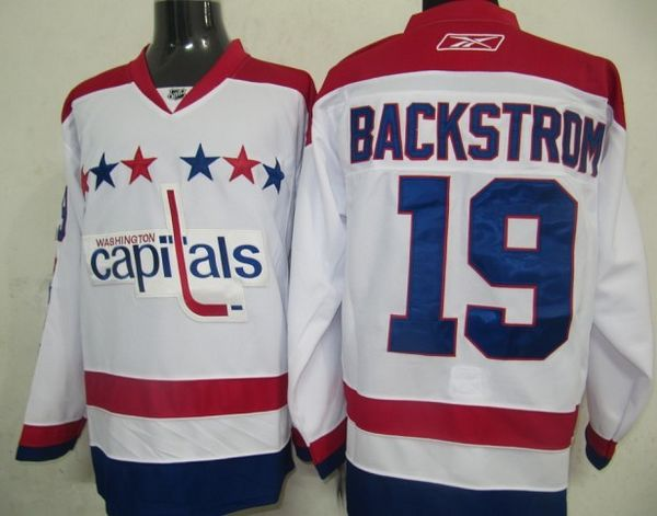 Capitals #19 Nicklas Backstrom Stitched White 2011 Winter Classic Vintage NHL Jersey