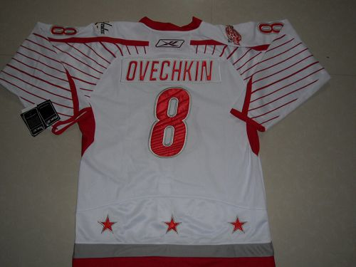 Capitals #8 Alex Ovechkin 2011 All Star Stitched White NHL Jersey