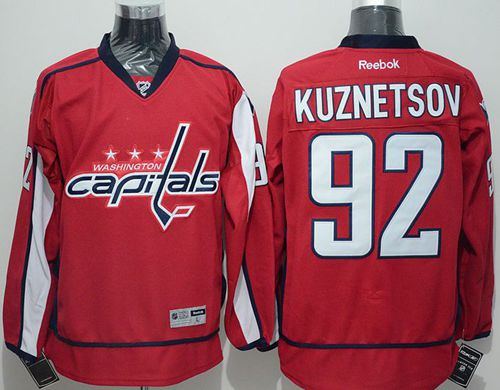 Capitals #92 Evgeny Kuznetsov Red Home Stitched NHL Jersey