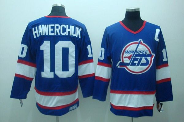 Jets #10 Dale Hawerchuk Stitched Blue CCM Throwback NHL Jersey