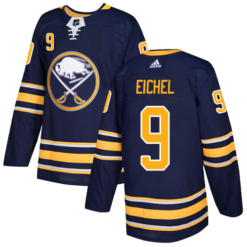 Men's Adidas Buffalo Sabres #9 Jack Eichel Navy Stitched NHL Jersey