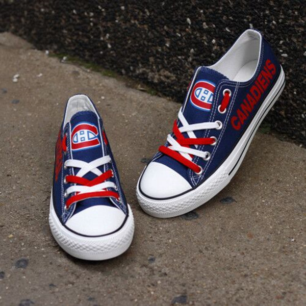 Women And Youth NHL Montreal Canadiens Repeat Print Low Top Sneakers
