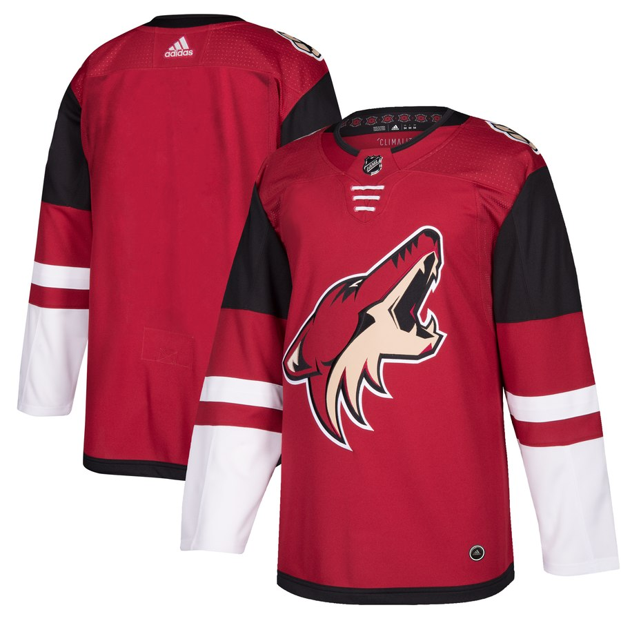 Men's Adidas Arizona Coyotes Burgundy Red 2018 Season Home Stitched NHL Jersey