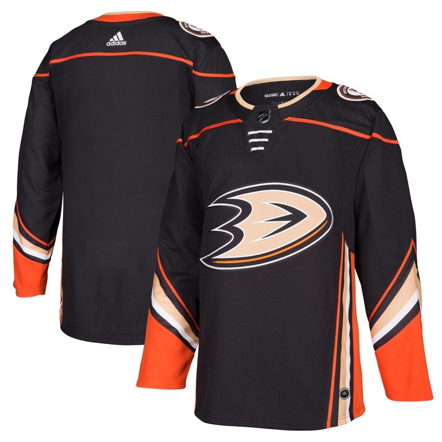 Men's Adidas Anaheim Ducks Black Stitched NHL Jersey