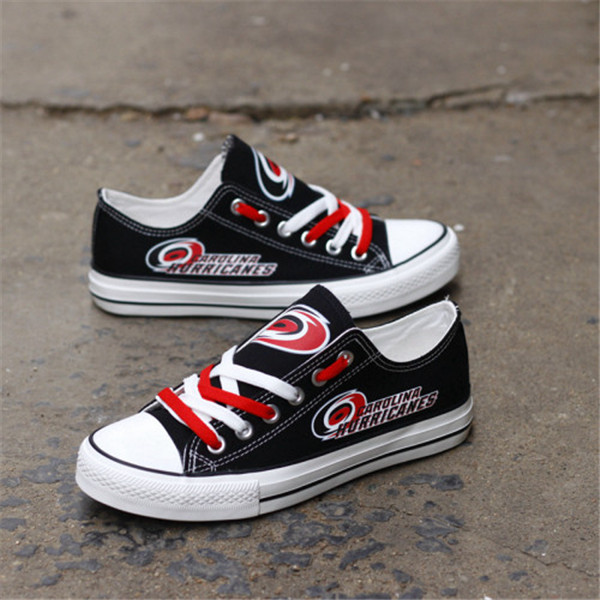 Women And Youth NHL Carolina Hurricanes Kings Repeat Print Low Top Sneakers