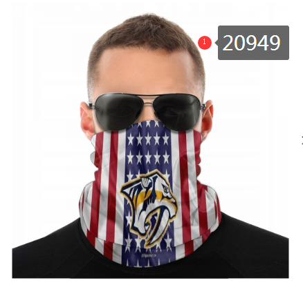 Predators Face Scarf 020949 (Pls Check Description For Details)Predators Face Mask Kerchief