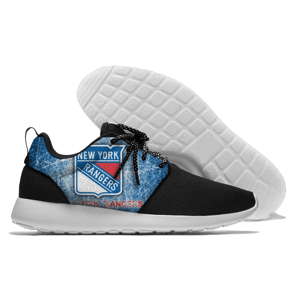 Men's NHL New York Rangers Roshe Style Lightweight Running Shoes 003