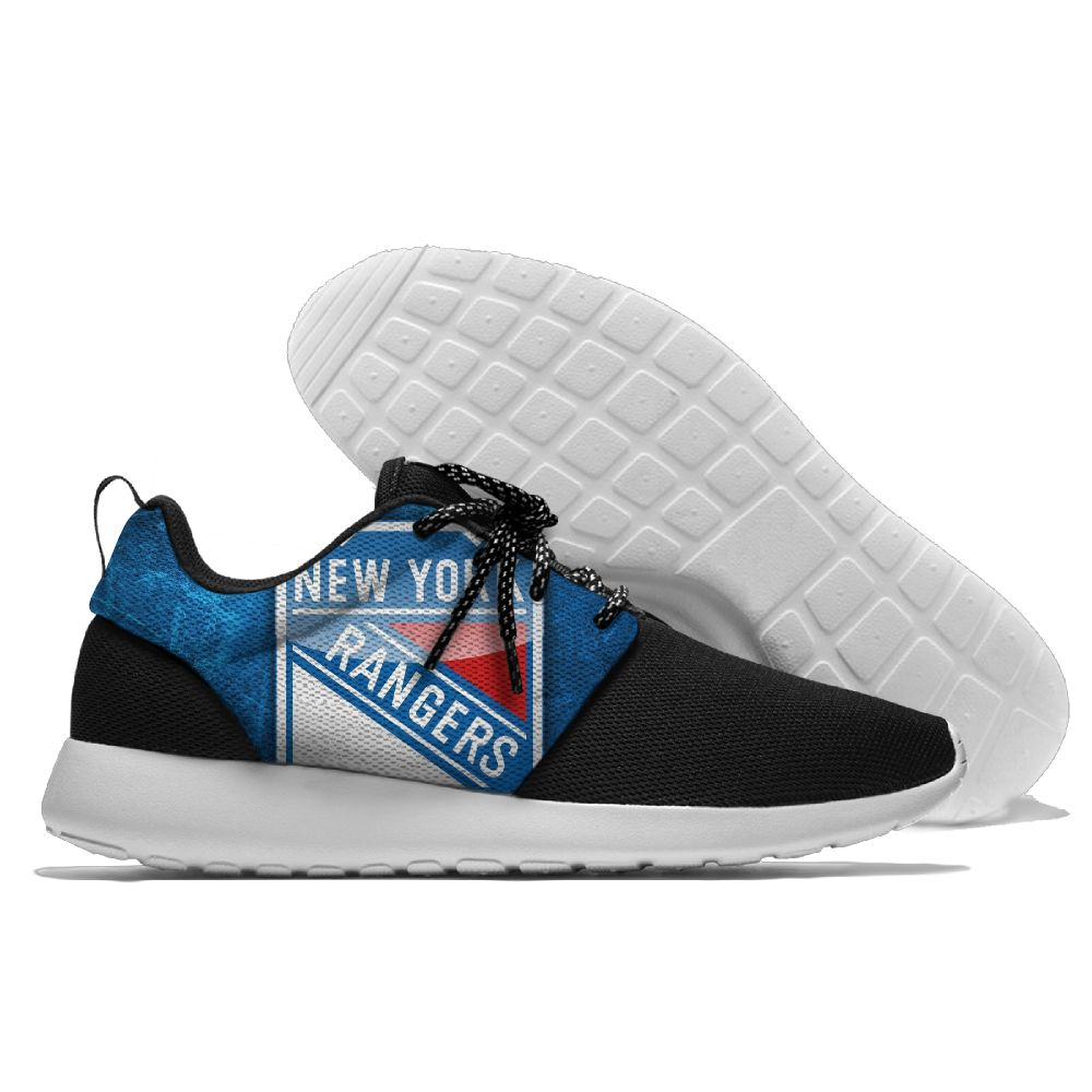Men's NHL New York Rangers Roshe Style Lightweight Running Shoes 001