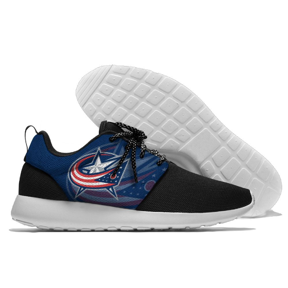 Women's NHL Columbus Blue Jackets Roshe Style Lightweight Running Shoes 001