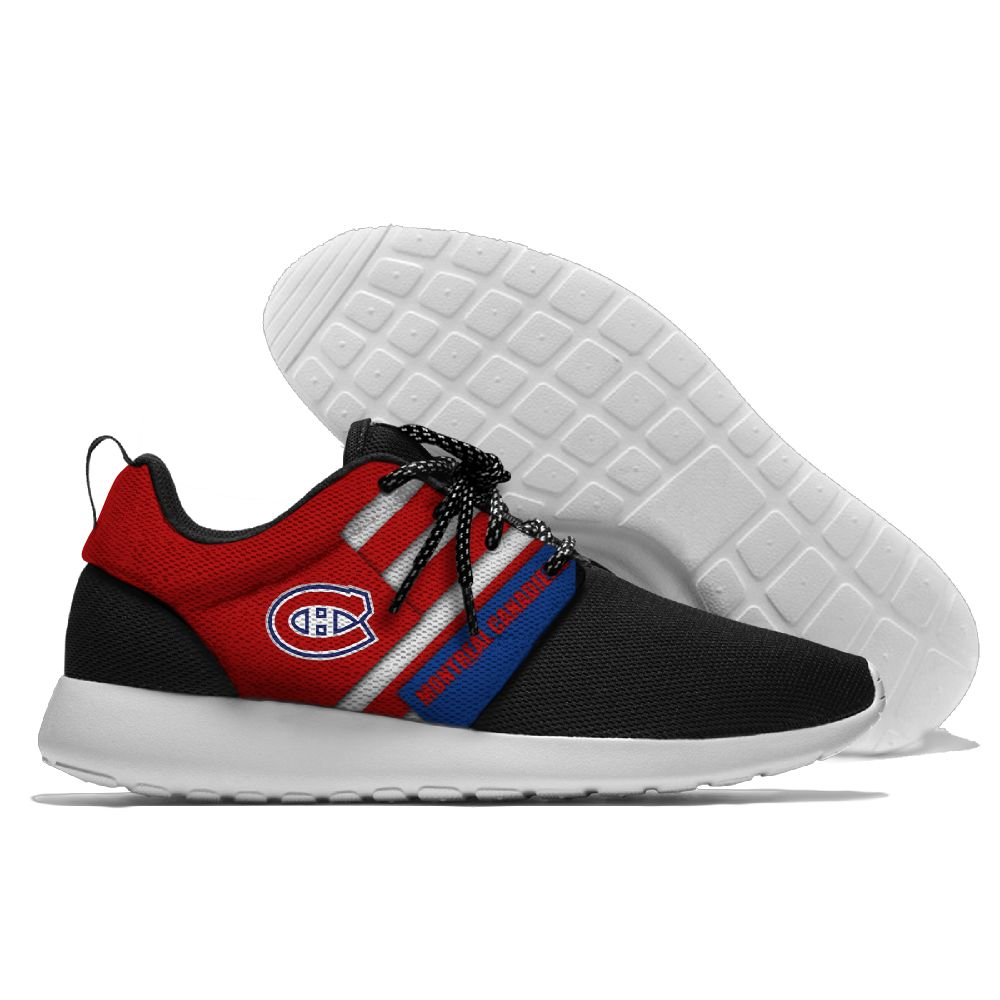 Women's NHL Montreal Canadiens Roshe Style Lightweight Running Shoes 001