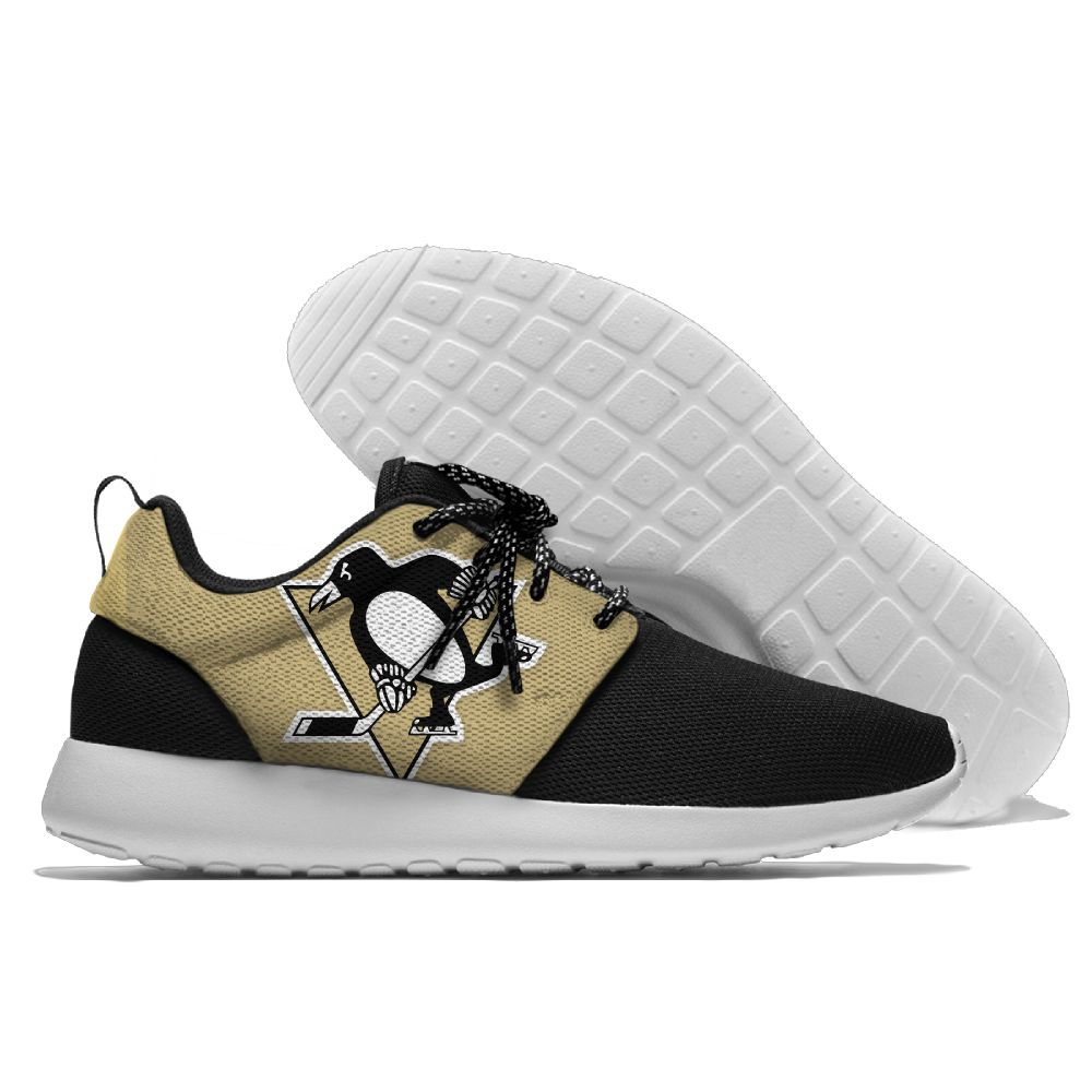 Women's NHL Pittsburgh Penguins Roshe Style Lightweight Running Shoes 001